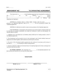 Download Amendment To Llc Operating Agreement Style 17 Template For ...