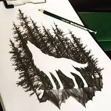 Pin Uživatele Yoomi Ji Eun Na Nástěnce Nice Tetování Vlka Skeče A