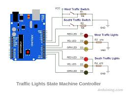 traffic light finite state machine arduino arduining traffic light schematics4