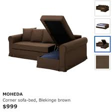 sofa bed with storage queen size l shape free delivery bonus free queen size ikea mattress if you need one used furniture sofas on carou