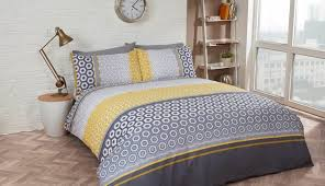 splendid cover mustard set white grey quilt single striped check yellow gray doona and covers sets