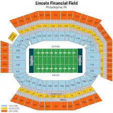 Breakdown Of The Lincoln Financial Field Seating Chart