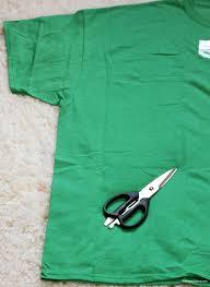 diy t shirt fabric headband step 1 green shirt