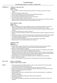 Library Clerk Sample Resume Library Clerk Resume Samples Velvet Jobs 9