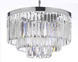 odeon empress crystal glass fringe 3 tier chandelier lighting