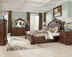 silverglade mansion bedroom set by signature design. ledelle sleigh headboard bedroom set with upholstered faux leather in brown - collection ashley signature design furniture brands silverglade mansion by r