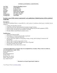 Resume Cover Letter For Internal Position New Cover Letters For
