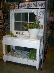 potting bench made from old doors potting bench antique cast iron sink salvaged window