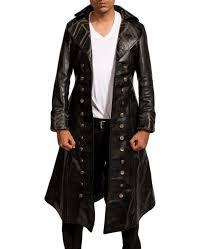 pirate black long coat