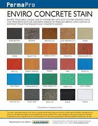 Concrete Stain Chart Concrete Stain Products Earthtone Enviro E Z Chem Usa