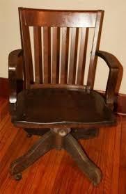 antique wooden office chair. antique wood office chair swivel banker desk allen industrial wooden