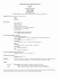 Examples Of College Resume Sample College Application Resume For Unique Graduate Recent Grad 14