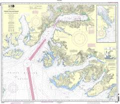 Valdez Alaska Tide Chart Noaa Chart 16708 Prince William Sound Port Fidalgo And Valdez Arm Tatitlek Narrows