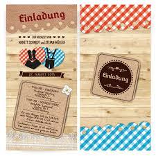 Einladungskarten Zur Hochzeit Bayern Herzen Bestellen