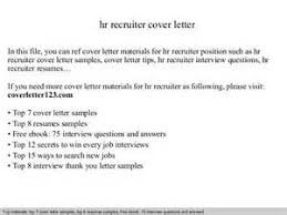 hr recruitment letter hr recruiter cover letter sample cover letters sample hr recruiter cover letter