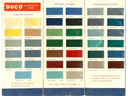 Duco Automobile Color Index In 2019 Car Paint Colors Car