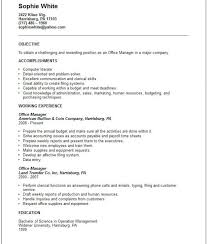 resume objectives for managers restaurant resume objective restaurant resume objective and get