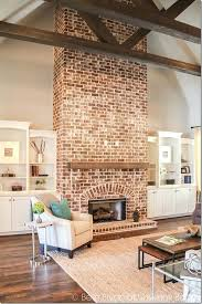 build mantel over brick fireplace building chimney whitewash red