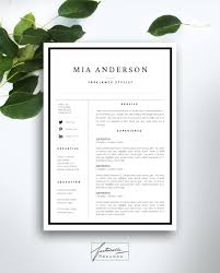 resume template 3 page cv template cover letter instant resume template 3 page cv template cover by fortunelleresumes