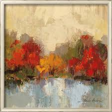 hot abstract art on canvas oil painting landscape fall riverside by silvia vassileva painting high quality hand painted in painting calligraphy from