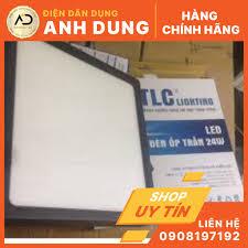 Đèn led ốp trần nổi vuông vỏ đen TLC Lighting