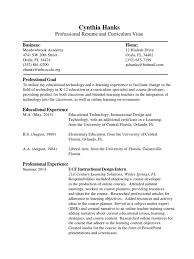 Resume Vitae Educational Technology Teachers