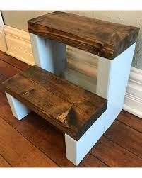 Personalized Rustic Step Stool / Rustic Kids Step Stool / Kid Step Stool /  Toddler Step