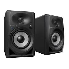 pioneer bluetooth. pioneer dj dm-40bt 4-inch bluetooth desktop monitor speakers angle view p