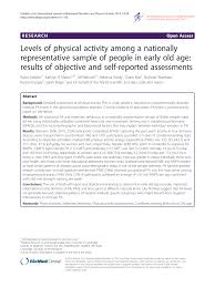 pdf levels of physical activity among a nationally representative sle of people in early old age results of objective and self reported essments