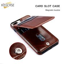 kisscase vine pu leather case for iphone 6 6s x 7 8 plus cover for samsung