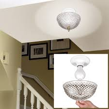 lightbulbs bare. Hampton Direct Ceiling Clip On Diamond Cut Acrylic Dome Light Shade Bulb Fixture - Walmart.com Lightbulbs Bare H
