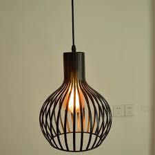 black white color wrought iron lamp birdcage pendant light modern dining living room bird cage lantern fixture in lights from lighting li