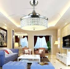 ceiling fans with lights for living room. Bedroom Ceiling Fans With Lights And Remote Led Fan Light Crystal Control . For Living Room