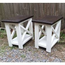 living room furniture woodworking plans. smaller version of our rustic-x end tables. living room furniture woodworking plans