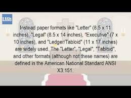 executive paper size what size is statement paper youtube
