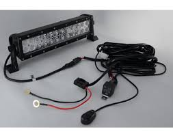 one legs wiring harness switch for 50 300w led offroad bar an illuminated on off switch and more than 8 feet of wiring this wiring harness for led off road lights simplifies the installation process of powering