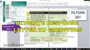 Yusef El Debt Discharge Ultimate Response Letter To Creditors