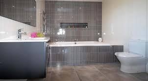 bathroom tiling dark grey white