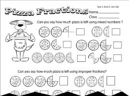 Improper Pizza: A year 5 fractions worksheetWorksheet