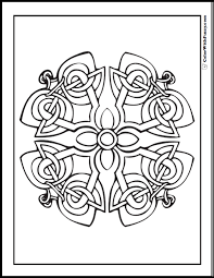 Celtic knots, celtic crosses and other beautiful celtic art patterns with a mix of intricate and basic designs. 90 Celtic Coloring Pages Irish Scottish Gaelic