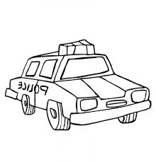 Police Car That Cool Coloring Page Kids Colouring Pages Coloring