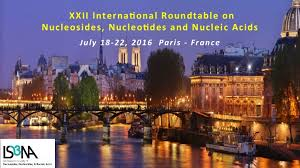 the 2016 international round table on nucleosides nucleotides and nucleic acids is the 22th edition of an international meeting which gathers every two
