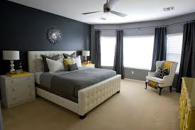 Small Picture Contemporary Bedroom Design Ideas for Men with Grey Wall Paint