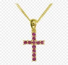 las shipton and co 9ct yellow gold cross ruby pendant pendant 1073699