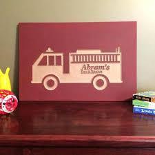 fire truck nursery decor fire truck crib bedding custom nursery decor sign wood wall art baby fire truck