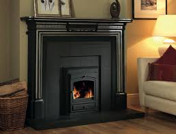 limerick cast iron surround shown with the ciara slate recessed back and hearth this shows