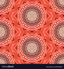 Bohemian Pattern Stunning Bohemian Pattern With Big Abstract Flowers Vector Image