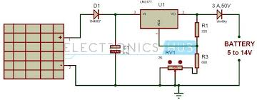 solar battery charger circuit using lm317 voltage regulator solar battery charger circuit diagram