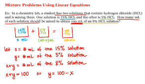 linear equations equations chemistry labs