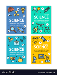 Science Research Posters Science Research Flyer Banner Posters Card Vector Image
